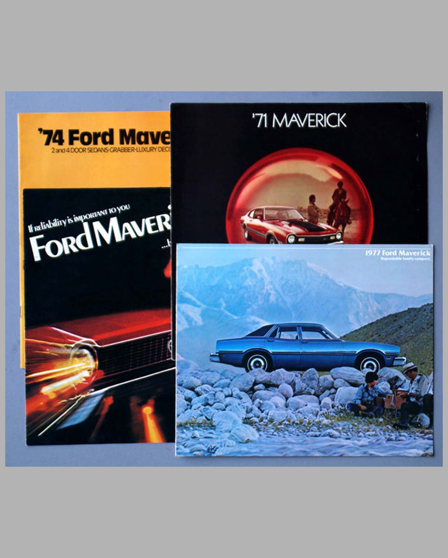 Four 1971-1977 Ford Maverick sales brochures