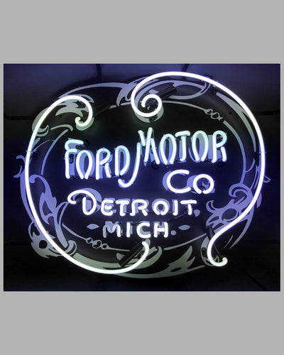 Ford Motor Co. Detroit Michigan replica of original sign hanging at Ford in 1903