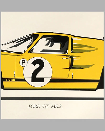 Large Ford GT Mk 2 print, late 1960's 2