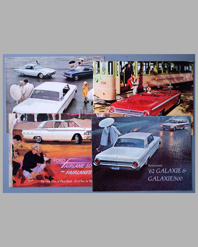 Four 1962 Ford sales brochures