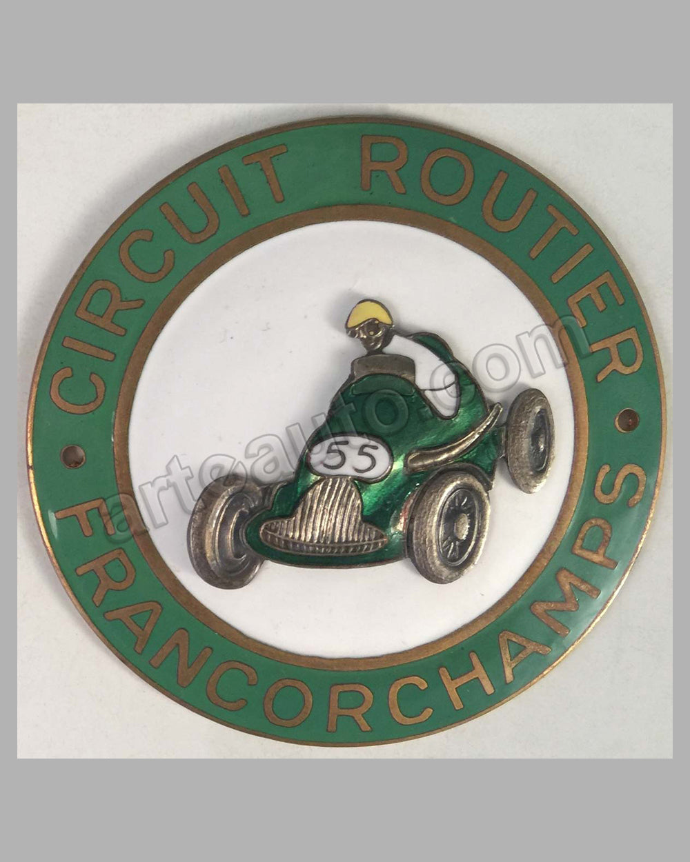Circuit Routier Francorchamps race track grill badge, 1950's