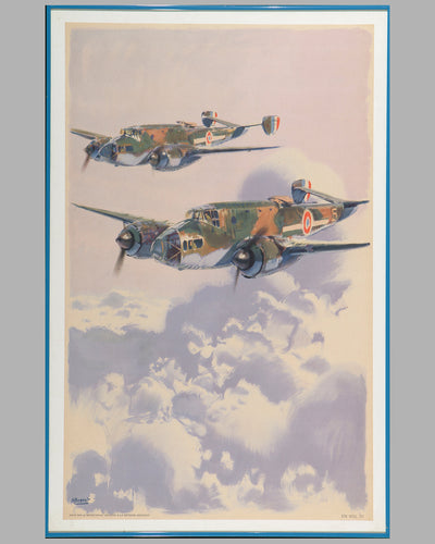 French Air Force Bombers propaganda poster