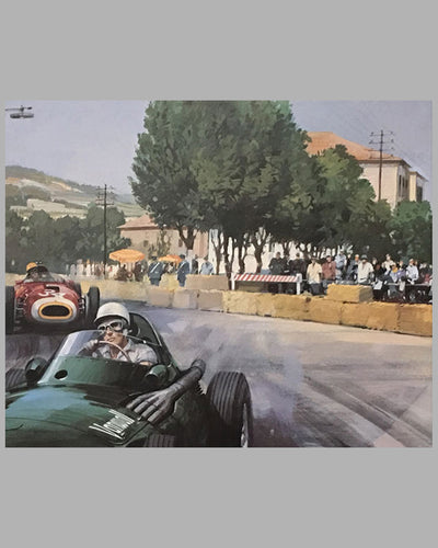 1957 Grand prix of Pescara print by Michael Turner 4