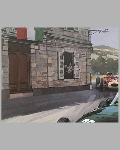 1957 Grand prix of Pescara print by Michael Turner 5