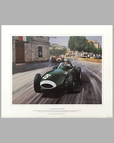 1957 Grand prix of Pescara print by Michael Turner