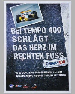 German 500 2001 original event poster