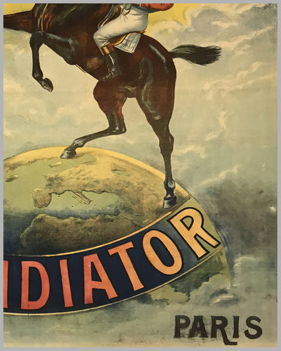 Cycles Automobiles Gladiator large original poster ca. 1905 by Vigneres 3
