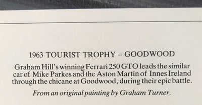1963 Tourist Trophy - Goodwood print by Graham Turner