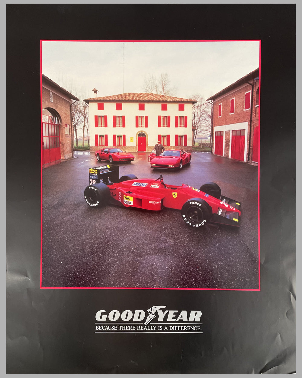1988 Goodyear Tires / Ferrari advertising poster