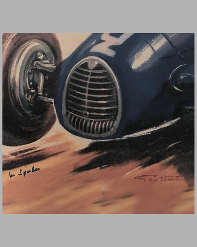 Gordini large print by Geo Ham, autographed 2
