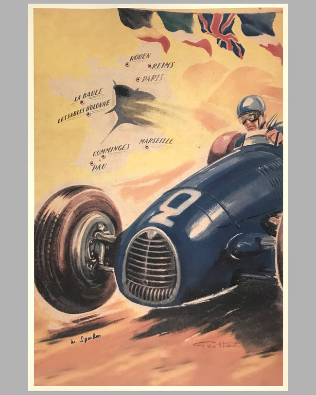 Gordini large print by Geo Ham, autographed