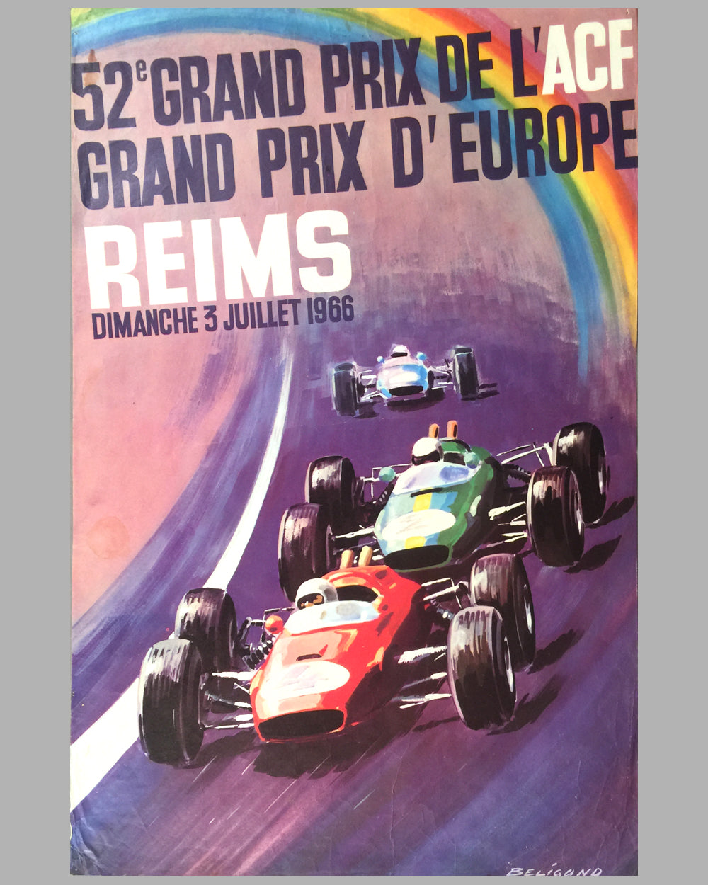 1966 - 52nd Grand Prix de l' ACF poster by Beligond