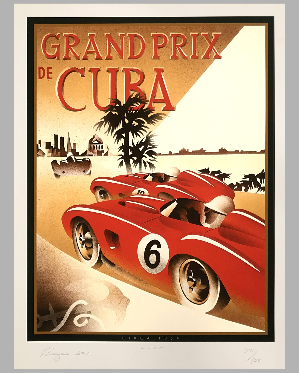 Grand Prix de Cuba signed giclée by Alain Lévesque