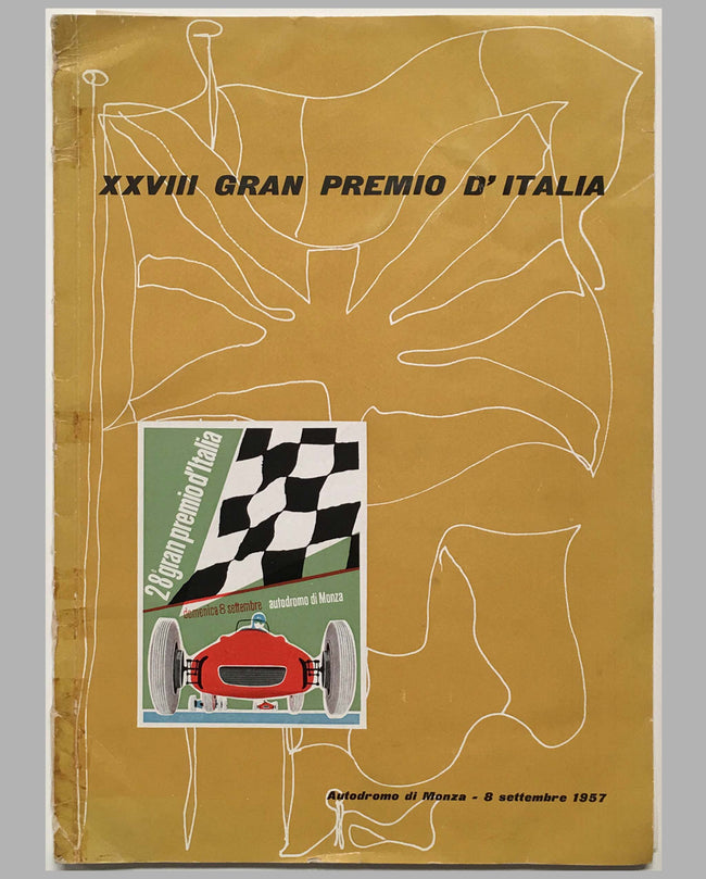 28th Grand Prix of Italy 1957 race program in Monza cover