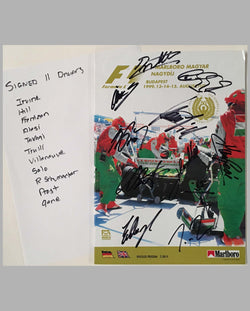 Grand Prix of Budapest 1999 official program, autographed, cover