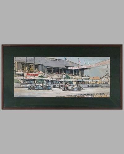 Grand Prix of Monte Carlo painting, with frame