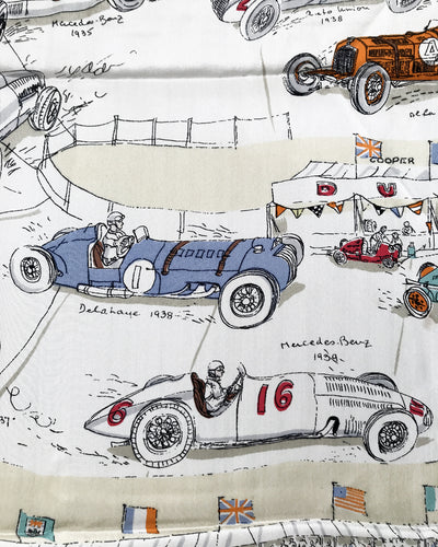"""Grand Prix"" 1950's period scarf by Jacqmar"