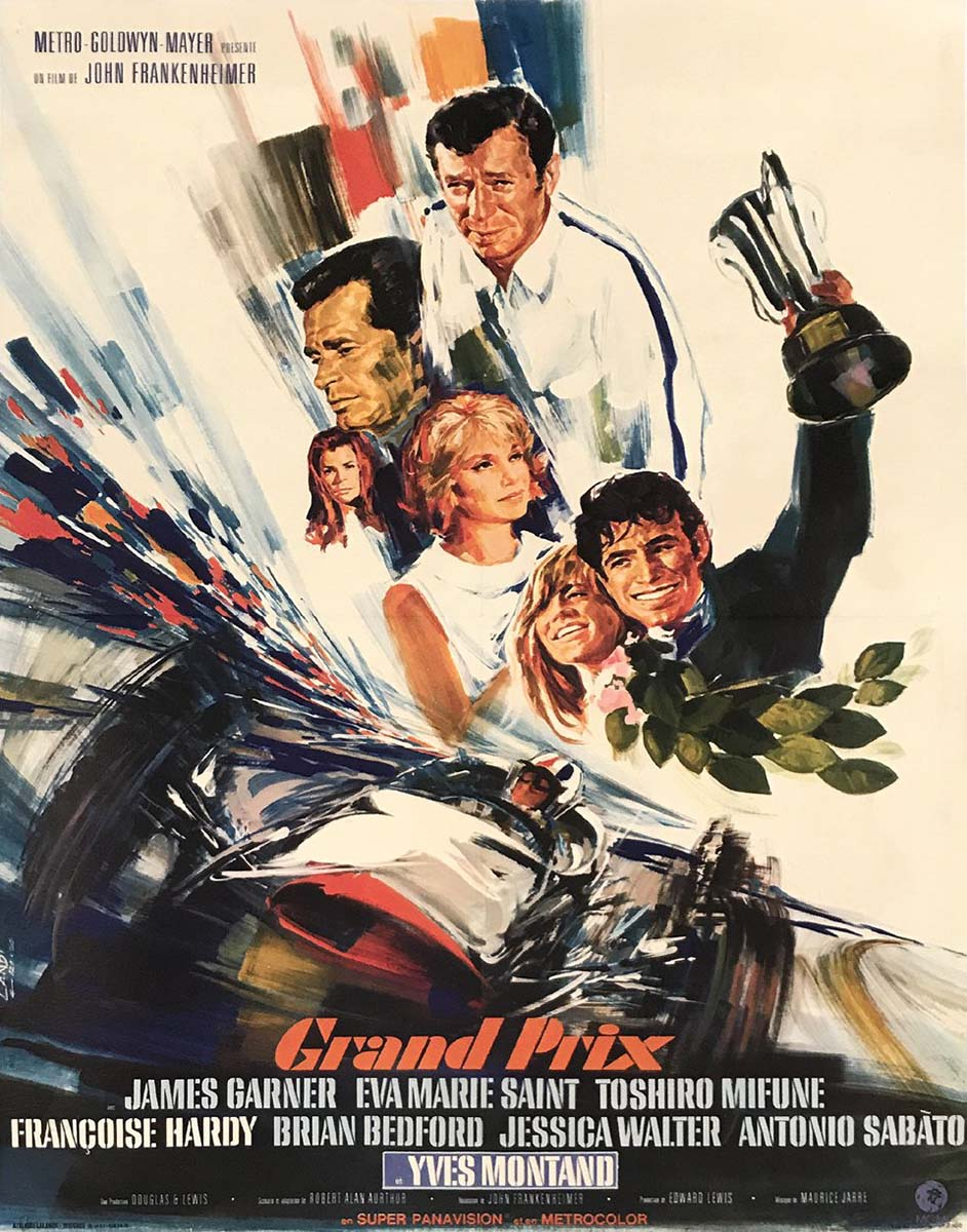 Grand Prix Movie Poster, by Laudi, 1966