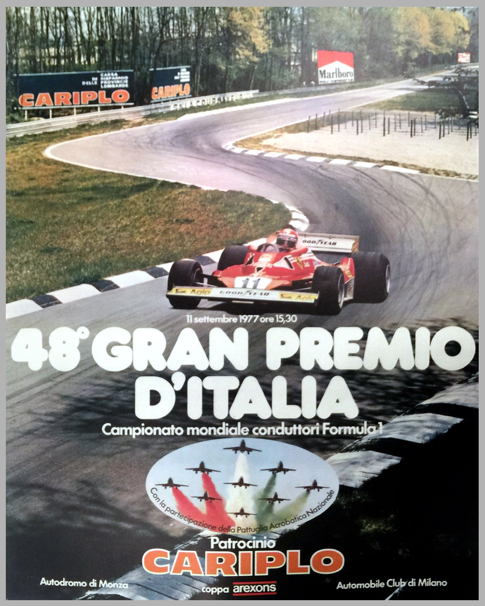 1977 - 48th Grand Prix d' Italia in Monza poster