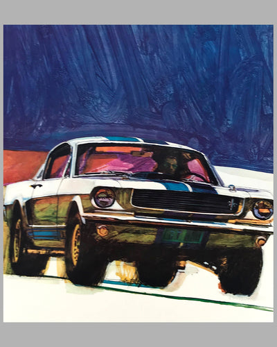 Ford Shelby 350 GT original advertising poster by George Bartell 2