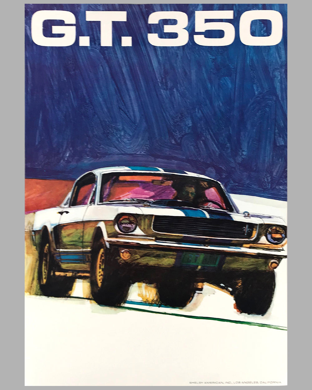 Ford Shelby 350 GT original advertising poster by George Bartell