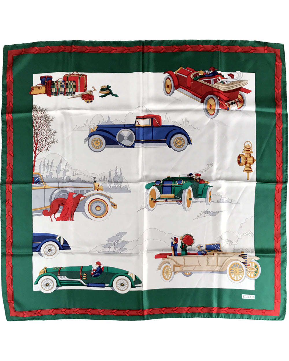 Classic Cars scarf by Gucci