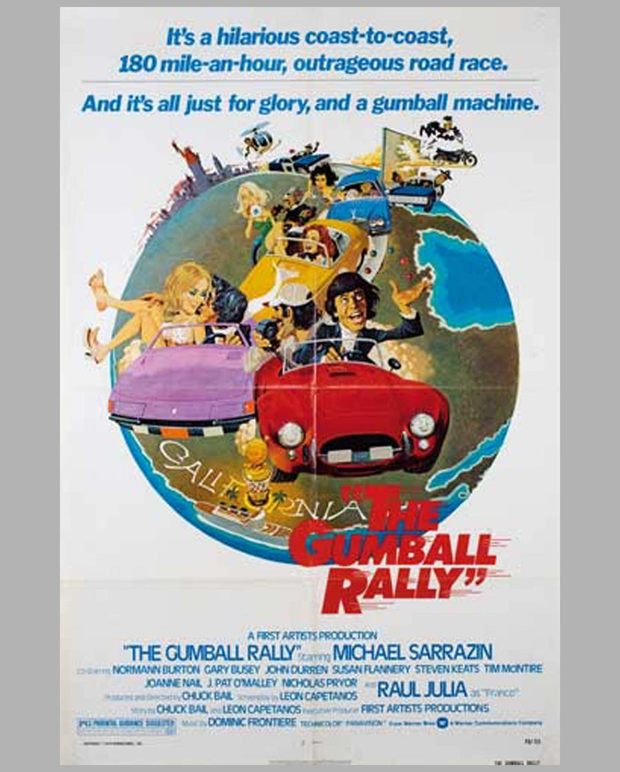 The Gumball Rally original movie poster, 1976