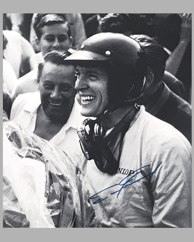 1962 Grand Prix of Rouen autographed photograph showing Dan Gurney & Phil Hill 6