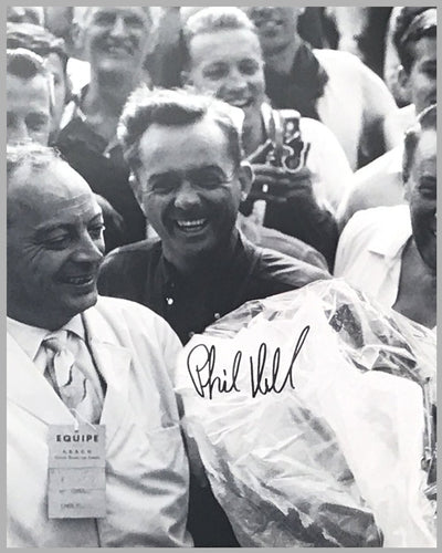 1962 Grand Prix of Rouen autographed photograph showing Dan Gurney & Phil Hill 7