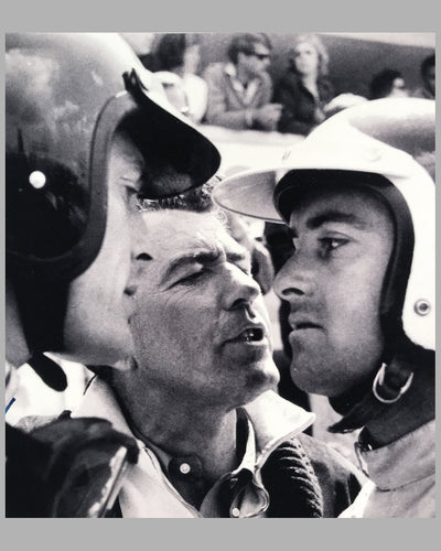 Dan Gurney, Carroll Shelby and Bob Bondurant b&w photograph on rag paper 2
