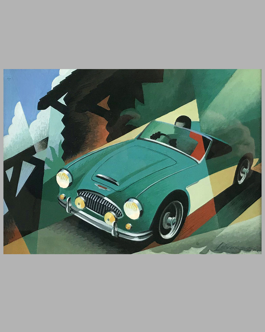 Austin Healey 3000 painting by Alain Lévesque