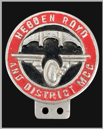 Hebben Royd and District MCC bumper or bar badge