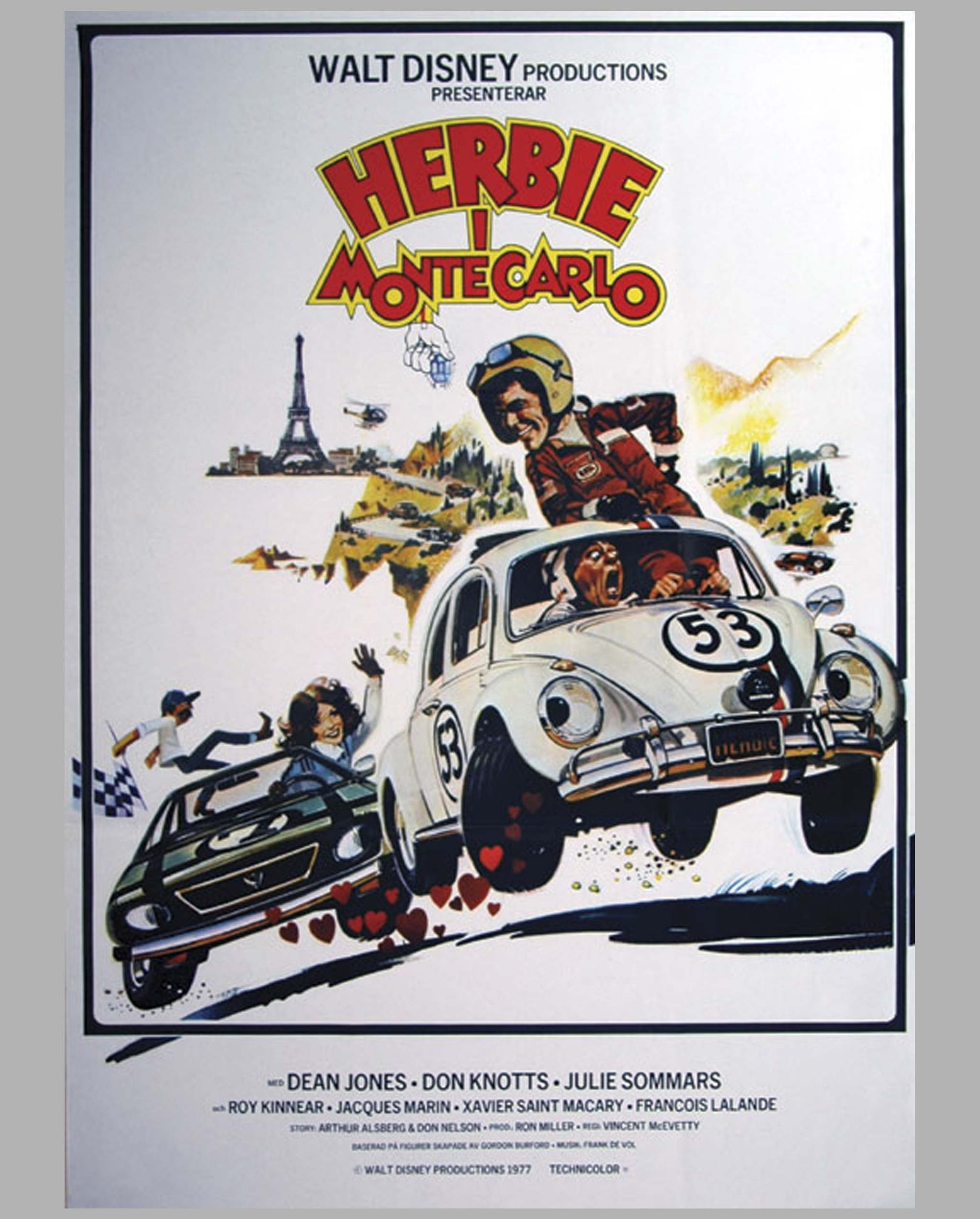 1977 Herbie 1 Monte Carlo movie poster