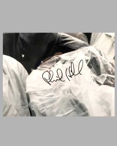 Grand Prix of Rouen 1962 photograph showing Dan Gurney & Phil Hill, autographed 3