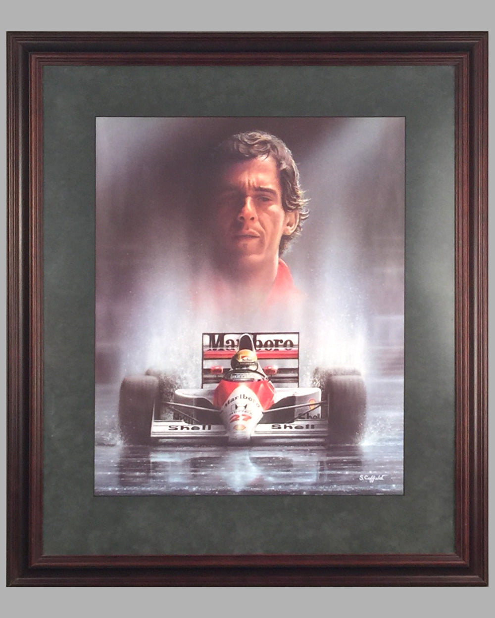 16 - Homage to Ayrton Senna print by Stuart Coffield