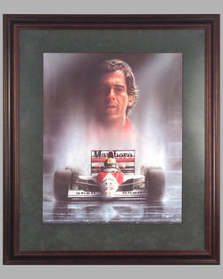 Homage to Ayrton Senna print by S. Coffield