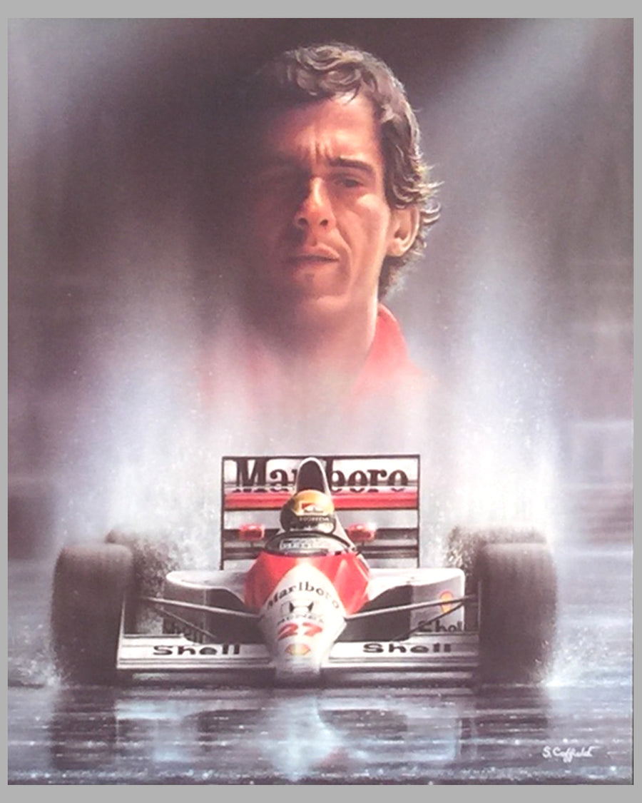 Homage to Ayrton Senna print by S. Coffield 2