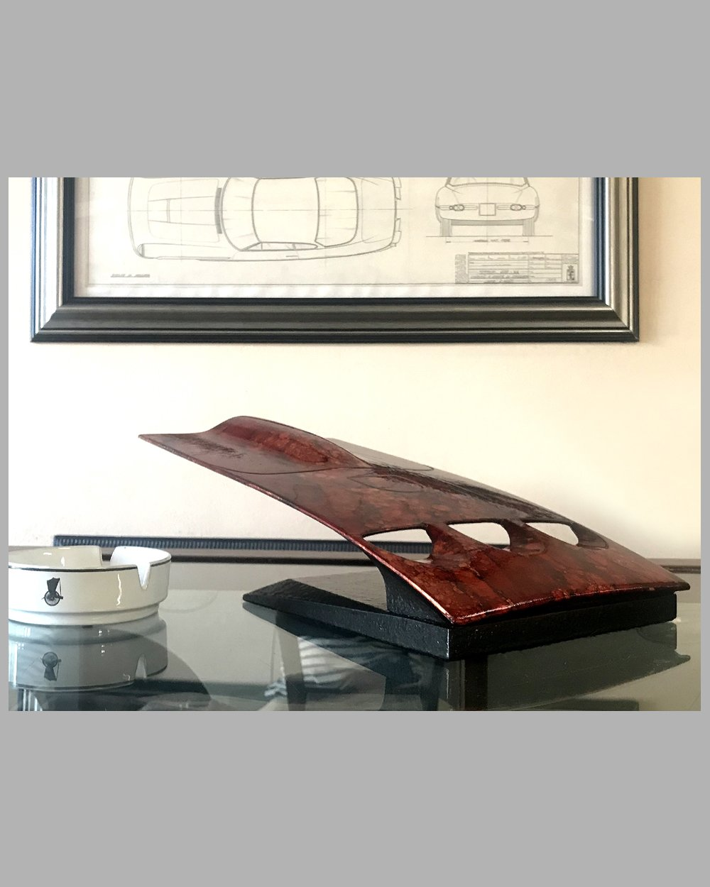Ferrari 250 GTO hood table sculpture by Dennis Hoyt