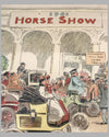 Horseless Carriages Arrive at the Horse Show 1901 period lithograph by C. J. Taylor 2