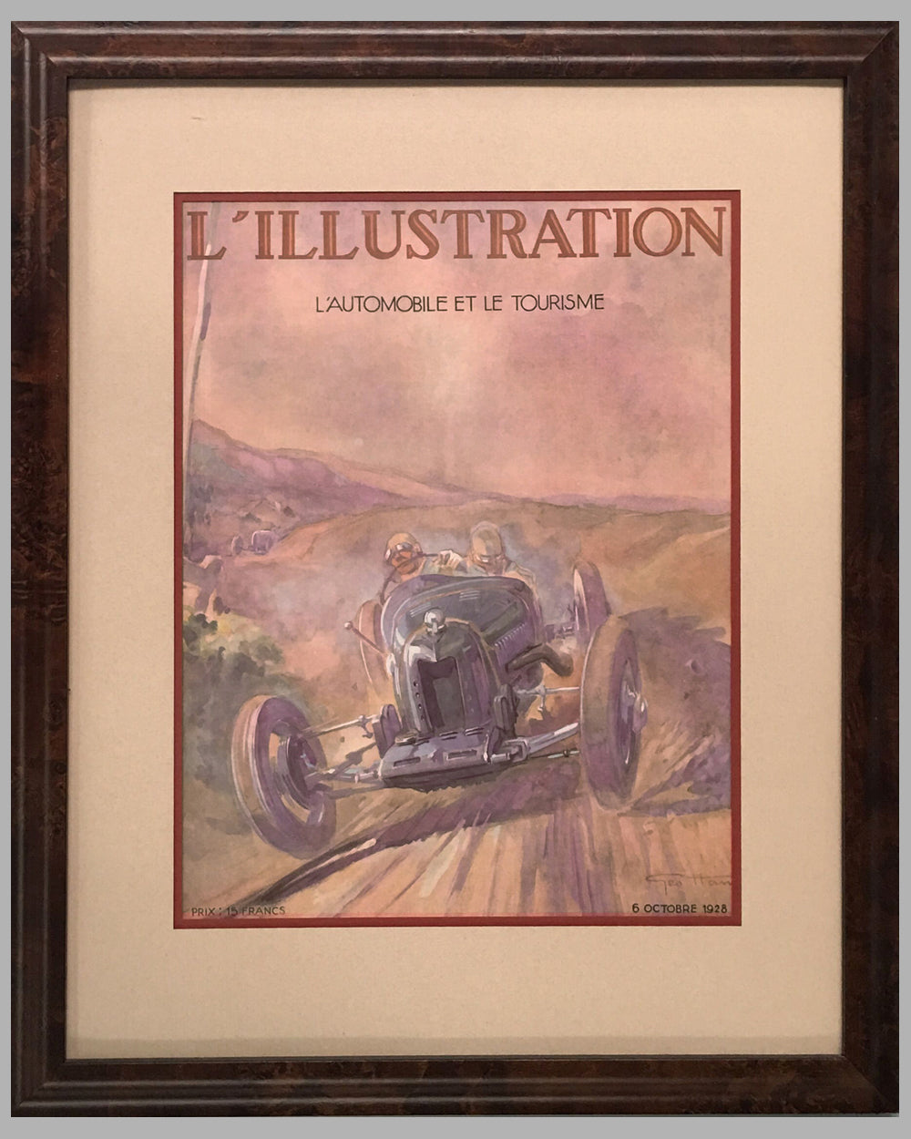 15 - Illustration Magazine original cover, October 1928, artwork by Geo Ham