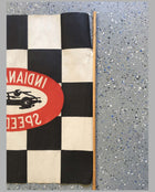 Indianapolis Speedway souvenir checkered flag, USA, 1950's close-up