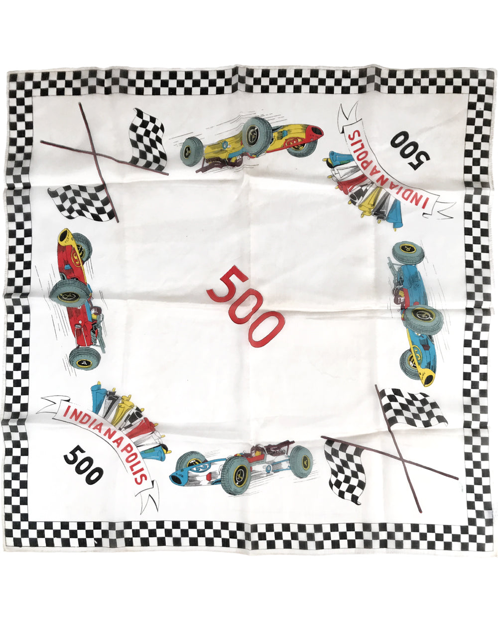 Indianapolis 500 mid 1960's period scarf