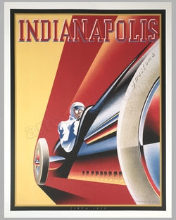 Indianapolis poster by Alain Lévesque