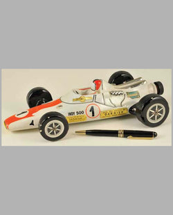 Indy 500 Race Car ceramic decanter, for Garnier, 1971