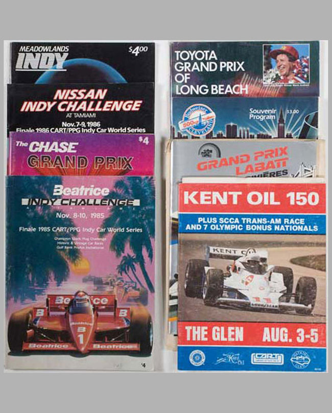 Eight CART/Indycar racing programs
