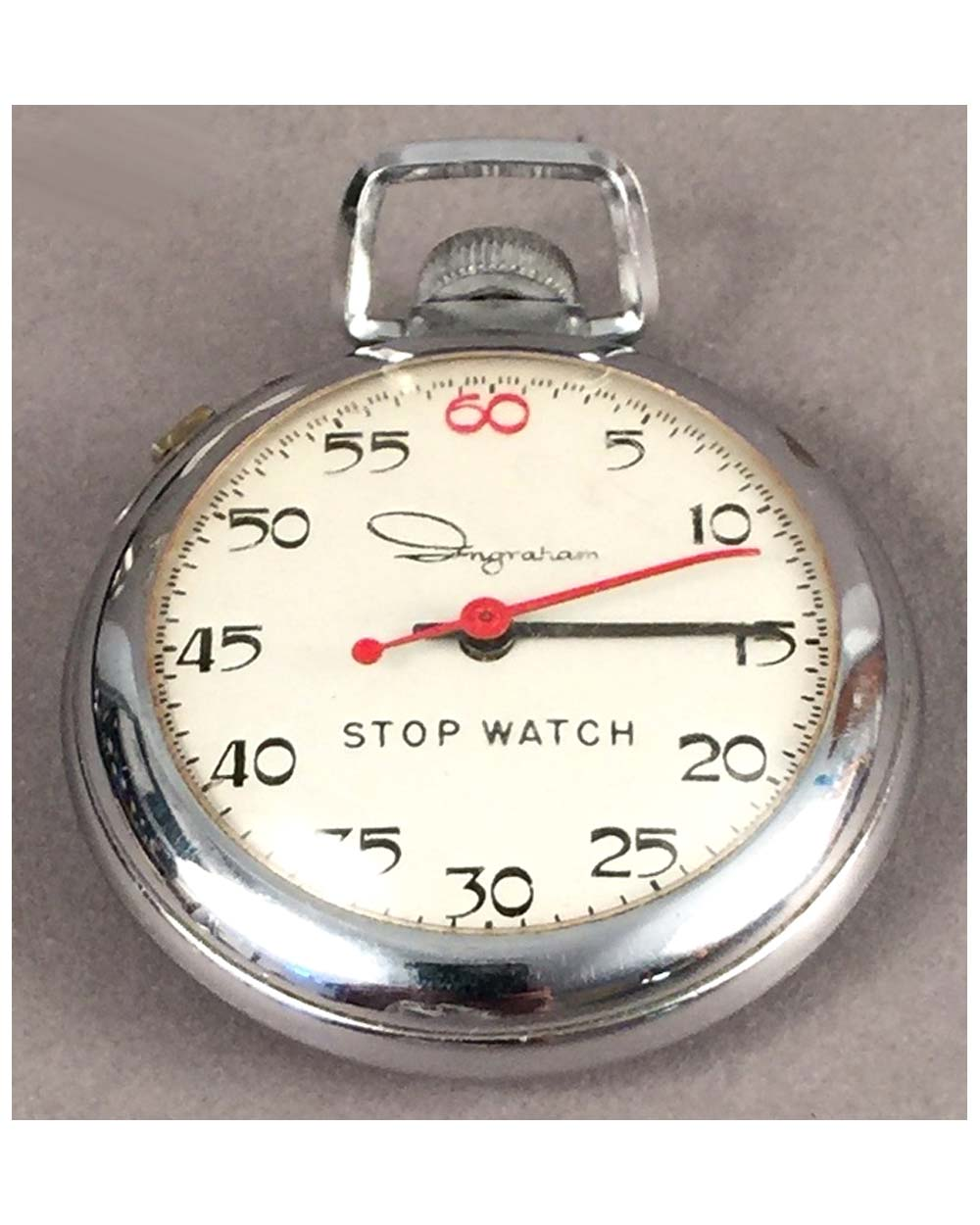 Ingraham Vintage Pocket Stop Watch