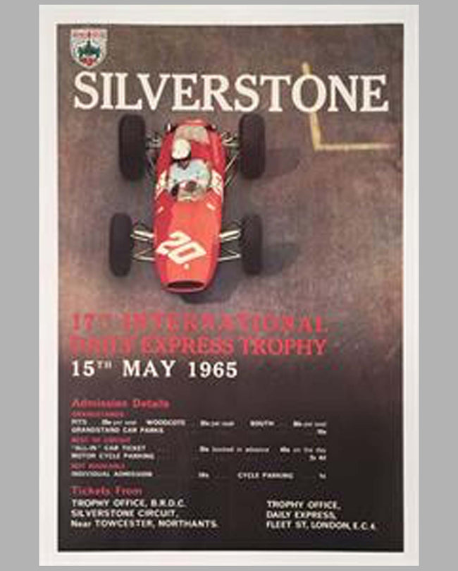 International Daily Express Trophy Silverstone original poster