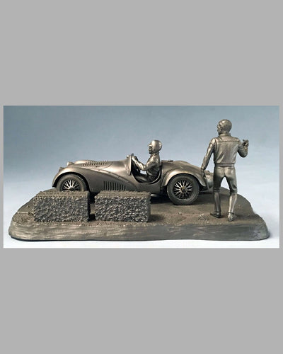 Into the Straight pewter sculpture by Raymond Meyers, 1979 4