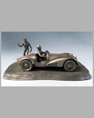 Into the Straight pewter sculpture by Raymond Meyers, 1979 2