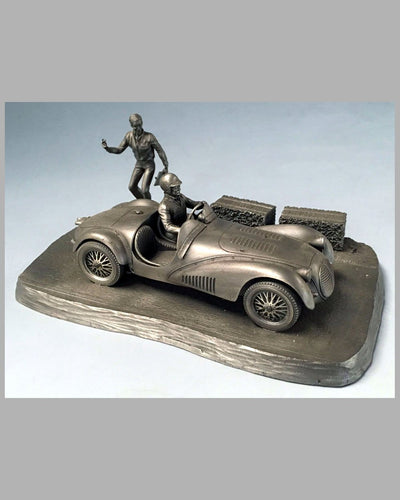 Into the Straight pewter sculpture by Raymond Meyers, 1979